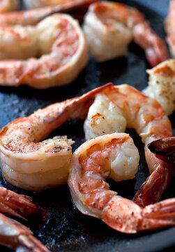 Close up of fried shrimp