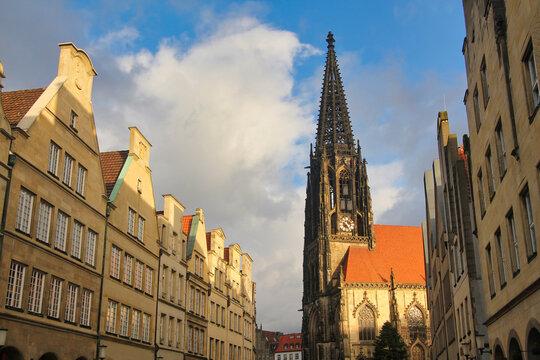 Tower of Saint Lamberti Church in Munster, Germany