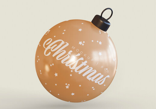 Christmas Tree Ball Mockup