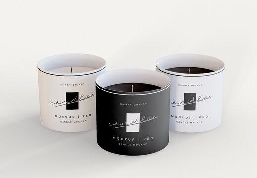 3 Candles Mockup