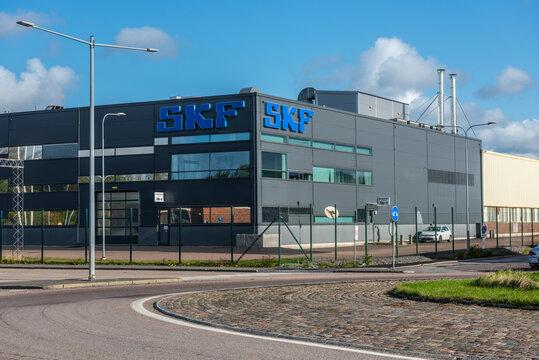 Gothenburg, Sweden - October 09 2020: Exterior of SKF plant in Gamlestaden..