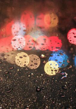 Night Drops Light Blur Bokeh Color