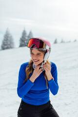 Female Skier Portrait