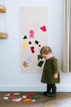 Matisse Felt play, sensory activity with kids