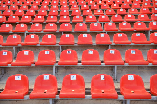 Empty seats at the stadium after all games were cancelled