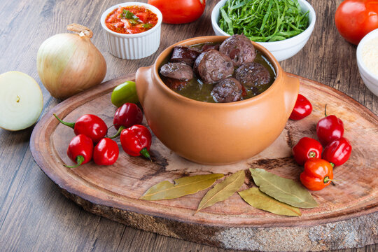 Feijoada. Traditional Brazilian food. Brazilian cuisine.