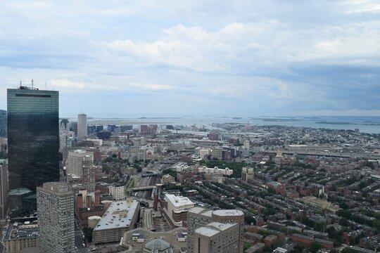 Boston City Skyline Panoramic View