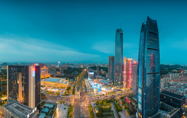Fototapeta Night view of Dongguan City, Guangdong Province, China