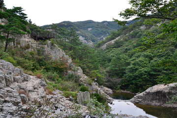 Beautiful scenery of the Byeonsan Bando National Park in South Korea