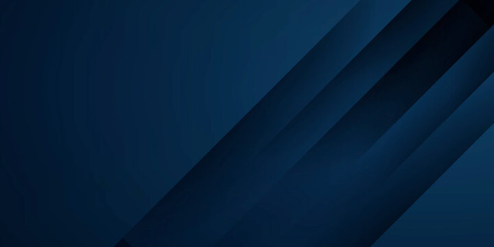 Abstract background futuristic elements on dark blue color banner geometric blue gradient texture with lines decoration
