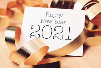 Happy new year 2021 with decoration.