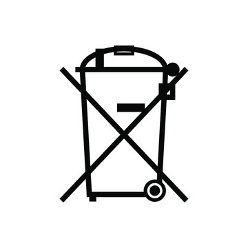 WEEE, Waste electrical and electronic equipment directive symbol. This symbol indicates that the electronic equipment should not be disposed of in the normal waste.
