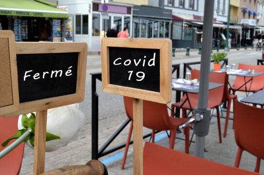 Restaurant fermé pour cause de covid-19