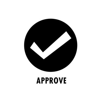 Check Approved symbol icon illustration