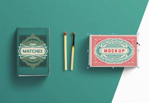 Box of Matches Mockup