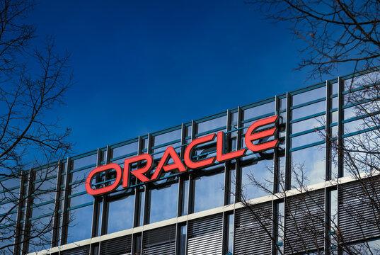 Oracle company headquarters. Munich, Germany - November 08, 2020