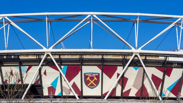 Exterior of the West Ham United Stadium