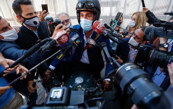 Personal physician of Diego Maradona, Dr. Leopoldo Luque, speaks to the press, in Olivos