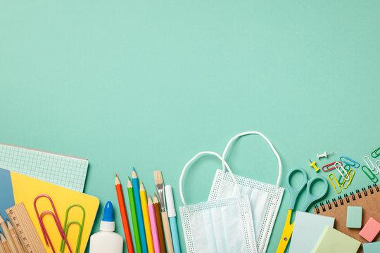 School supplies background. Education concept