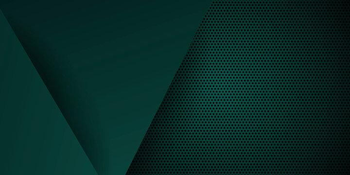 Dark green 3d abstract presentation background