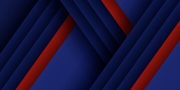 Dark blue red abstract presentation background with business modern corporate concept