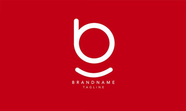 Alphabet letters Initials Monogram logo BG, GB, B and G