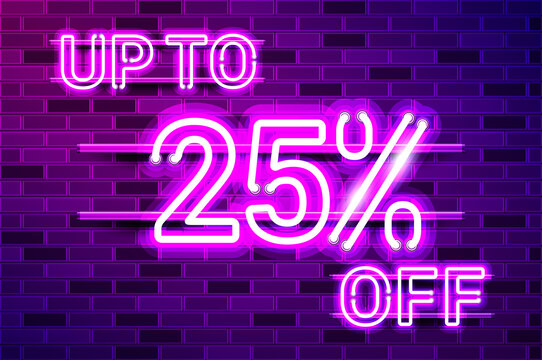 UP TO 25 percent OFF glowing purple neon lamp sign
