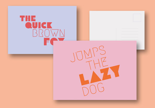 Text Effect Postcards