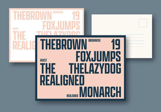 Type Layout Postcards