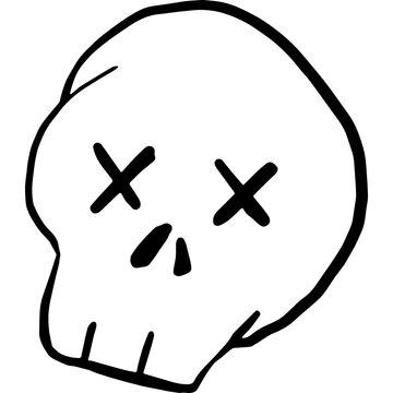 dead doodle skull