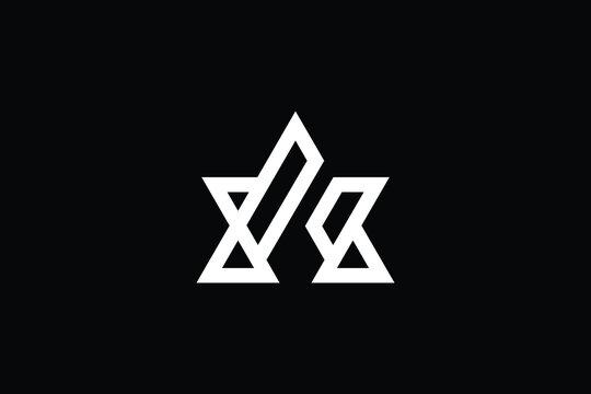AW logo letter design on luxury background. WA logo monogram initials letter concept. AW icon logo design. WA elegant and Professional letter icon design on black background. AW WA