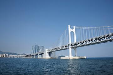 bridge city on Busan of South Korea