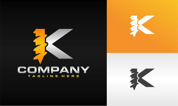 letter K drill logo