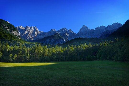 Alpine scene near Kranjska Gora, Slovenia, Europe