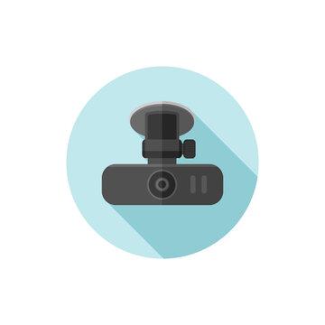 Vector flat design Car dash cam
