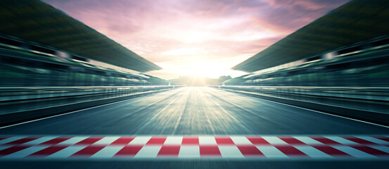 Acrylic Prints F1 F1 evening circuit motion blur road