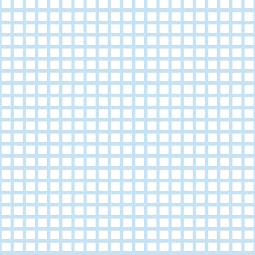 Vector baby blue gingham seamless pattern background.