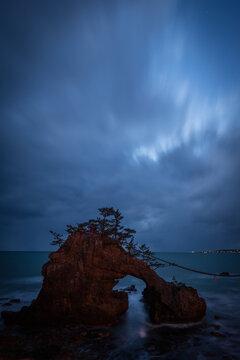 石川県 能登半島 機具岩 夜景