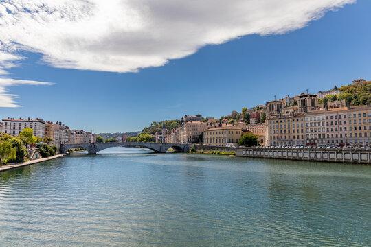 Bonaparte Bridge, Lyon, Rhone, France