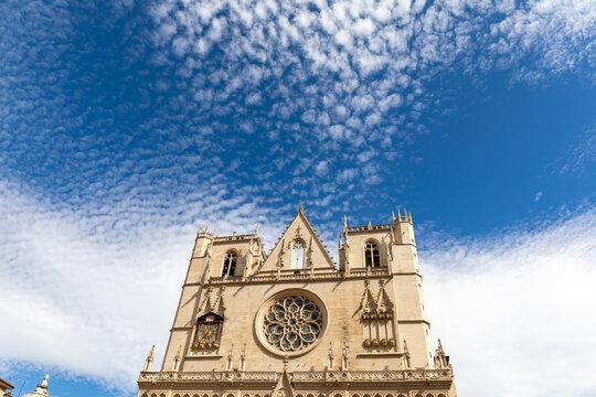 Saint-Jean Baptiste Cathedral, Lyon, Rhone, France