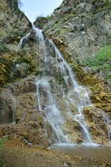 View of Caucasian waterfall in Dzhily-Su tract