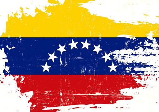 Venezuela scratched flag. A Bolivarian Republic of Venezuela grunge flag for you