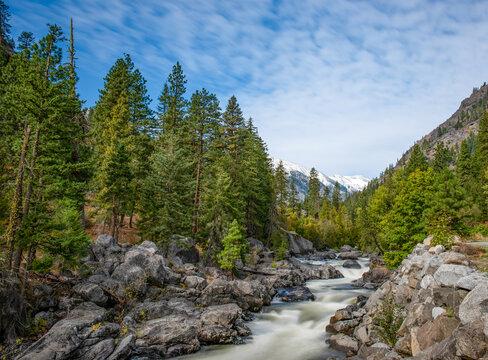 Icicle Creek Landscape Long Exposure