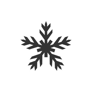 Snowflake icon isolated on white background. Christmas symbol modern, simple, vector, icon for website design, mobile app, ui. Vector Illustration