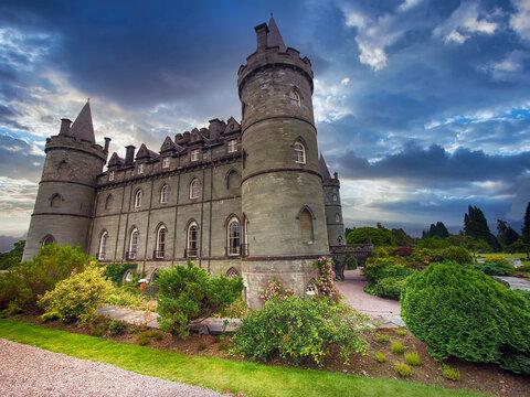 Inveraray Castle in western Scotland