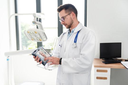 Doctor in office. Telemedicine, remote health
