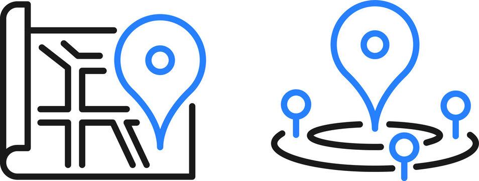 location icon. location pin icon vector