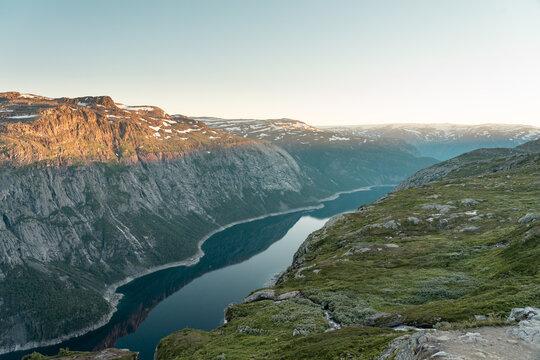Trolltunga Fjord in Norwegen