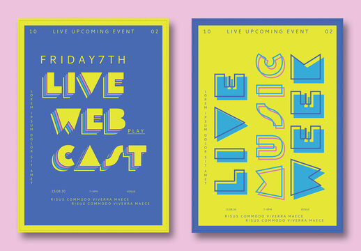 Vibrant Music Flyer Set
