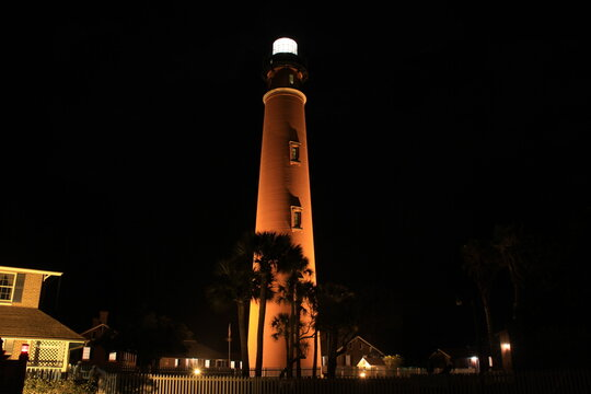 Lighthouse on Florida beach
